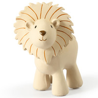 Lion bath toy and rattle beige