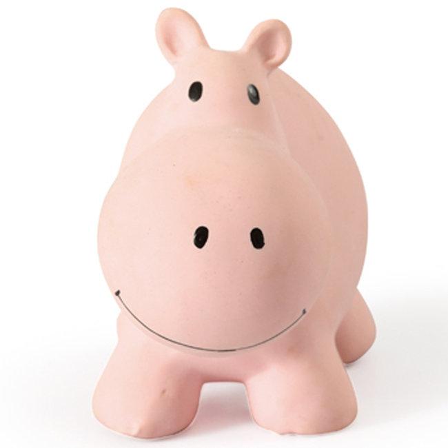 Tikiri Hippo bath toy and rattle pink