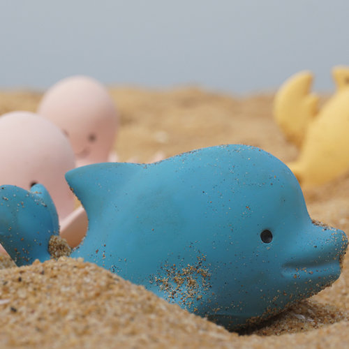Tikiri Dolphin bath toy and rattle blue
