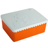 Lunch box blue compartments
