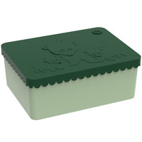 Lunch box green compartments