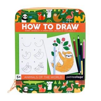 Petit Collage Leer dieren tekenen