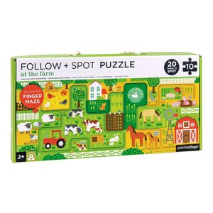 Petit Collage Puzzle Follow & Spot Farm