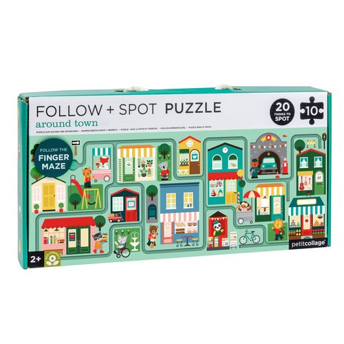 Petit Collage Puzzle follow & spot town