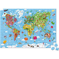 Puzzle world map giant 300 pieces