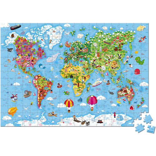 Janod Puzzle world map giant 300 pieces