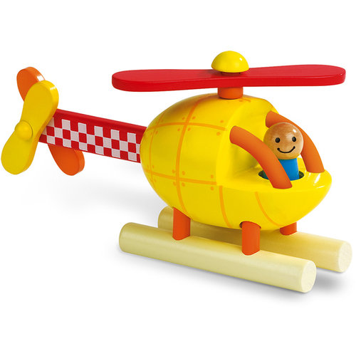 Janod Helicopter magnetic puzzle wood
