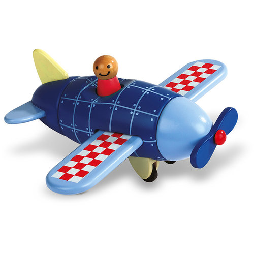 Janod Airplane magnetic puzzle wood