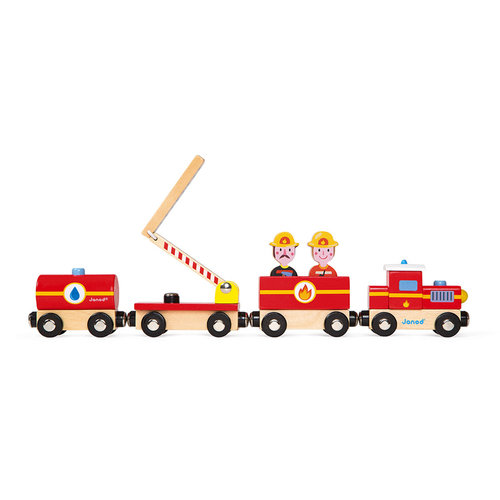Janod Train firefighters wood