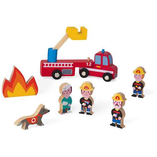 Janod Firefighters wood Mini Story