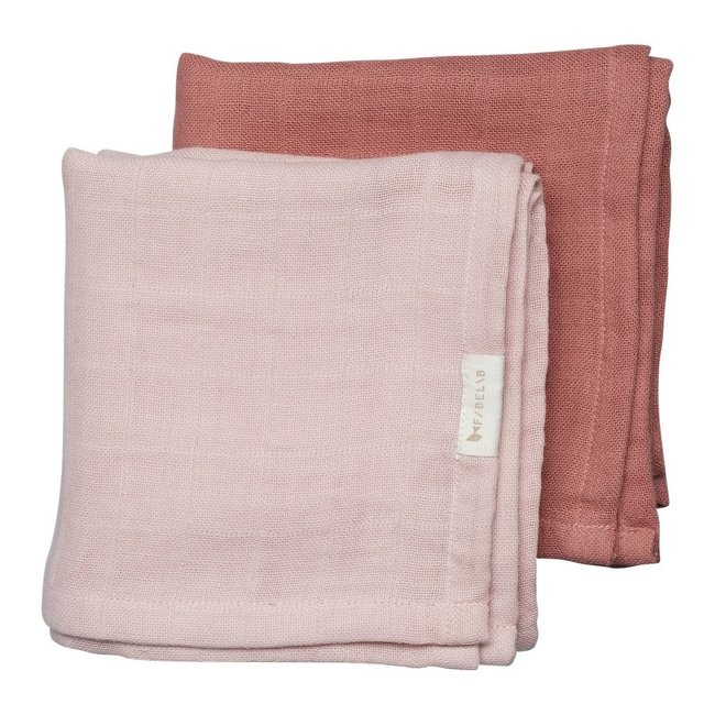 Fabelab Muslin Cloth 2 Pack Berry 60 x 60 cm