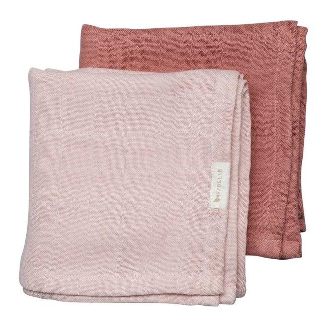Fabelab Muslin Cloth 2 Pack Berry