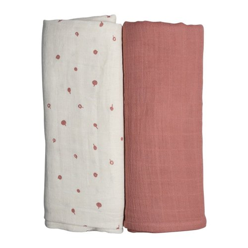 Fabelab Muslin Cloth 2 Pack Wild Berry