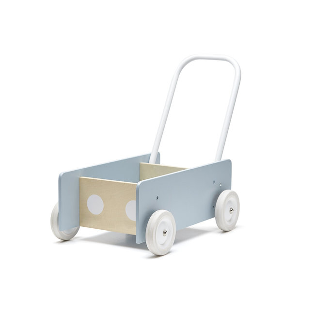 Kids Concept Loopwagen hout  blauw-grijs