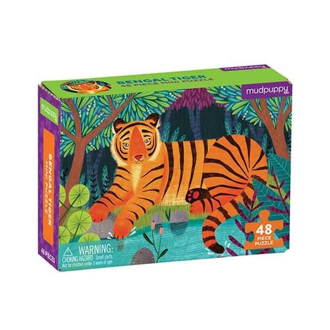 Mudpuppy Mini puzzel tijger 48 stukjes