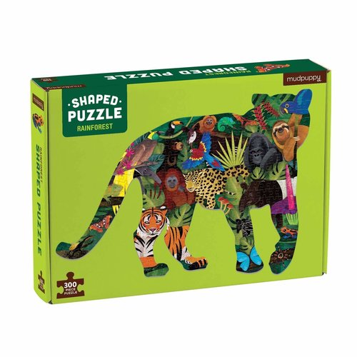 Mudpuppy Shaped puzzel rainforest 300 stukjes