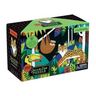 Mudpuppy Glow in the dark Puzzle Rainforest 100 Teile