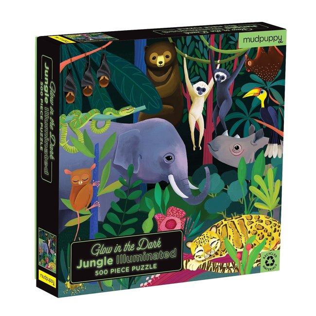 Mudpuppy Glow in the dark Jungle puzzel 500 st.