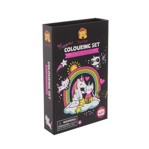 Tiger Tribe Neon Colouring set Unicorn