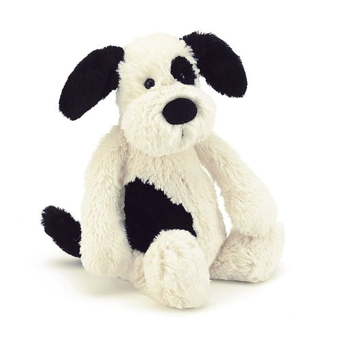 Jellycat Puppy Bashful Black-white 31 cm
