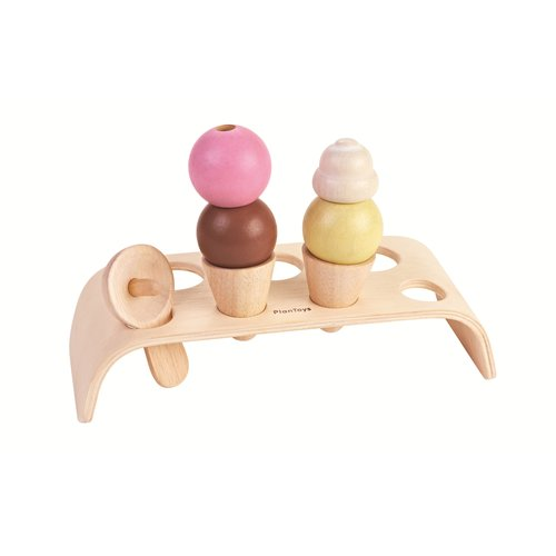 PlanToys Ijs Set Hout