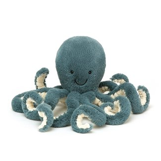 Jellycat Octopus Storm Knuffel Blauw Small 23 cm