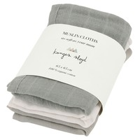 Muslin Cloth Lime Stone 3 Pack
