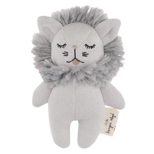 Konges Sløjd Mini Lion Rattle Grey