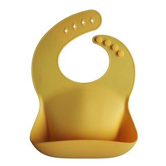 Mushie Silikon Lätzchen Mineral Yellow