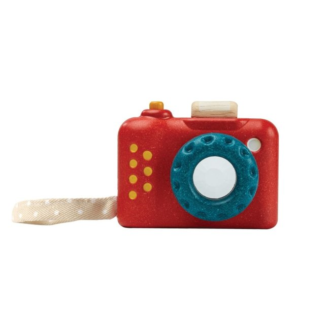 PlanToys Camera Hout Rood