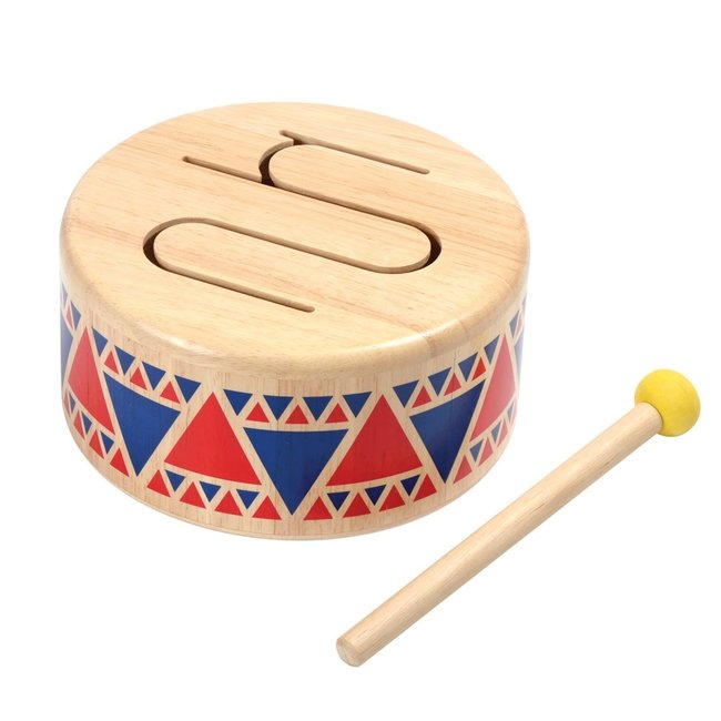 PlanToys Trommel Solid Drum Hout