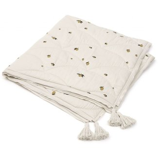Konges Sløjd Baby Quilt Zitrone Off-White Gelb