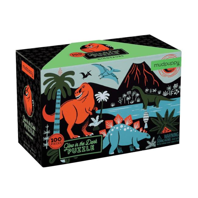 Mudpuppy Glow in the dark puzzel dinosaurus 100 st.