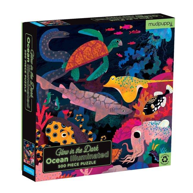 Mudpuppy Glow in the dark Puzzle Oceaan 500-Teile