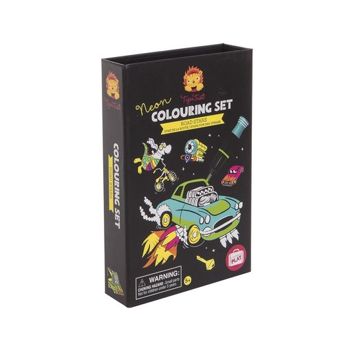 Tiger Tribe Neon Colouring set Road Stars