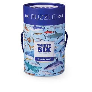 Crocodile Creek Puzzle 36 Haifische 100 Teile