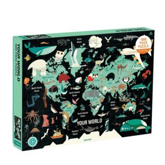 Mudpuppy Puzzel Wereldkaart 1000 st.