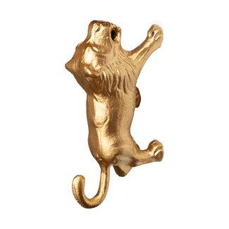 KidsDepot Wall Hook Lion Gold Lino