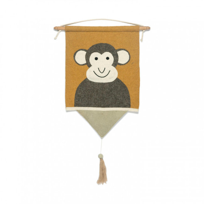KidsDepot Wall Decoration Moos Monkey
