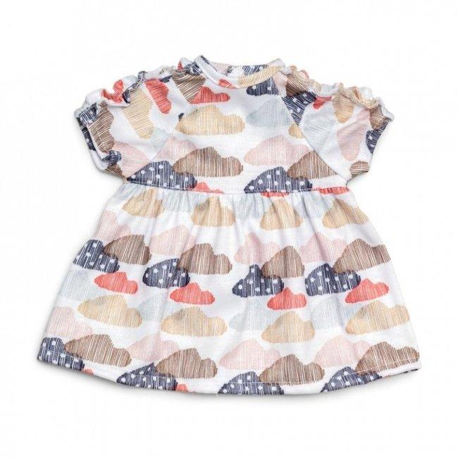 Skrallan Doll Dress Clouds