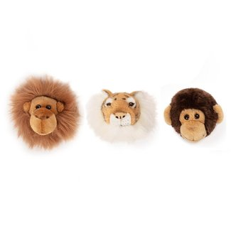 Wild and Soft Set of 3 mini Jungle trophy soft toys