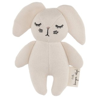 Konges Sløjd Mini Kaninchen Kuscheltier Rassel Weiß