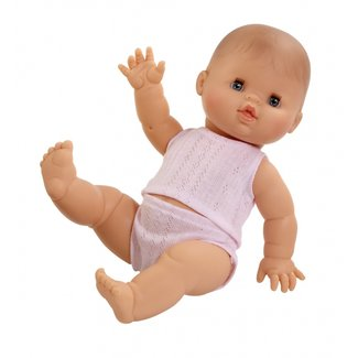 Paola Reina Puppe Gordi Mit Rosa Unterwäsche Mädchen