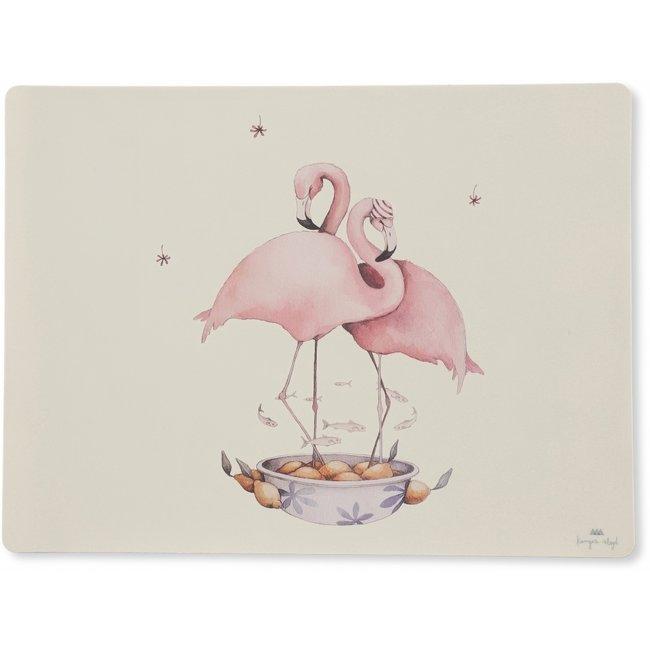 Konges Sløjd Tischset Flamingo