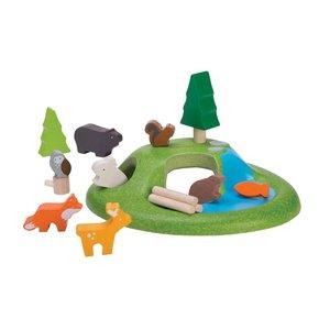 PlanToys Wooden Animal Set