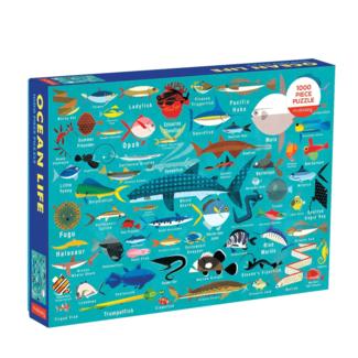 Mudpuppy Puzzle Ocean Life 1000 pc.