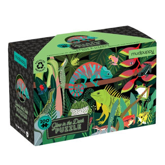 Mudpuppy Glow in the dark Puzzle 100-teilig
