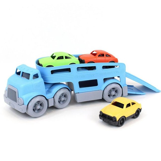 Green Toys Car Carrier & 3 Cars