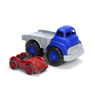Green Toys Lkw mit Rennwagen Blau
