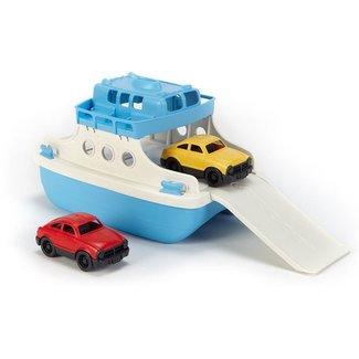 Green Toys Fähre mit Auto blau